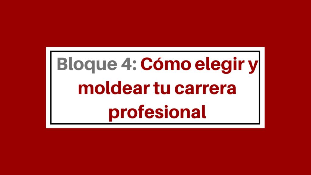 Cómo elegir y moldear tu carrera profesional